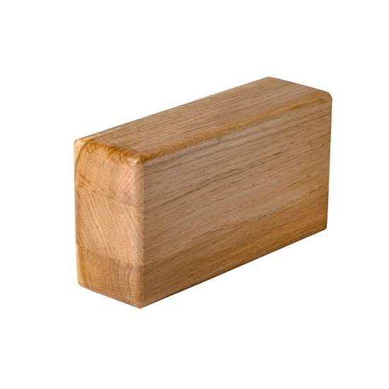 kostka do jogi drewniana dąb