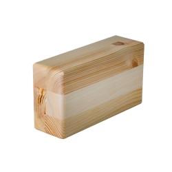 Kostka do jogi drewniana sosna