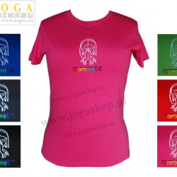 Damska Koszulka T-shirt haft z Anjali mudrą Namasté