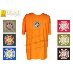 Męska Koszulka T-shirt haft z symbolem Śri Jantra