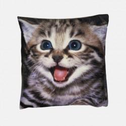 Poduszka dekoracyjna 40x40 cm Szczęśliwy kot