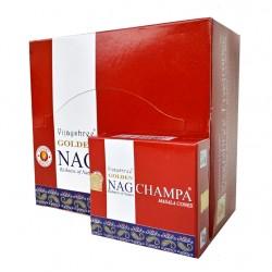 Kadzidło szczęścia - Golden Nag Champa stożkowe