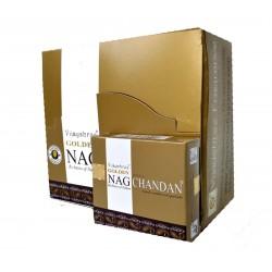 Kadzidło szczęścia - Golden Nag Chandan  stożkowe