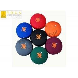 poduszka medytacyjna  ZAFU z  haftem Ganapati i OM