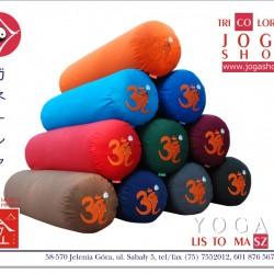 Wałki do jogi - Komfortowy bolster z haftem Ganapati i OM