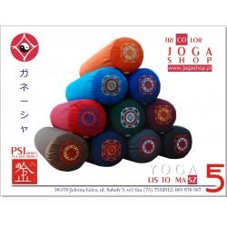 Wałki do jogi - komfortowy bolster z haftem Śri Jantra